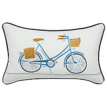 Buy Scion Snowdrop Bicycle Cushion, Burnt Orange/White Online at johnlewis.com