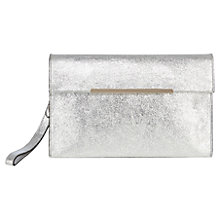 Buy Coast Hawksmoor Leather Bag, Silver Online at johnlewis.com
