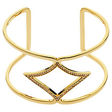 Buy Melissa Odabash Plated Crystal Open Cuff Online at johnlewis.com