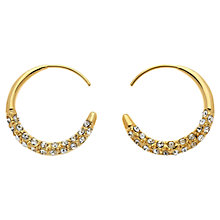 Buy Melissa Odabash Swarovski Crystal Orbit Hoop Earrings Online at johnlewis.com