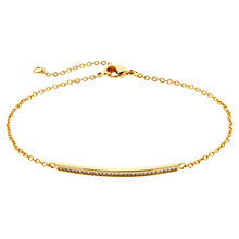Buy Melissa Odabash Gold Plated Crystal Bar Bracelet Online at johnlewis.com