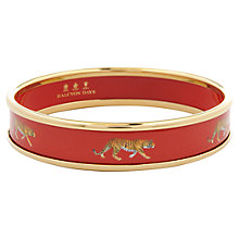 Buy Halcyon Days 18ct Gold Plated Enamel Running Tiger Bangle, Medium Online at johnlewis.com