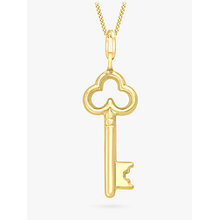 Buy IBB 9ct Gold Key Charm Pendant, Gold Online at johnlewis.com