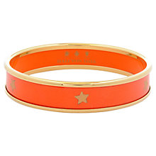 Buy Halcyon Days 18ct Gold Plated Enamel Star Bangle, Medium Online at johnlewis.com