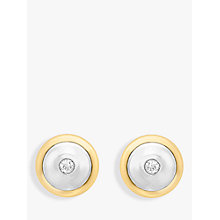 Buy IBB 9ct Gold Cubic Zirconia Disc Stud Earrings, Gold Online at johnlewis.com