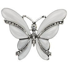 Buy John Lewis Pearl Butterfly Brooch, Silver/Cream Online at johnlewis.com
