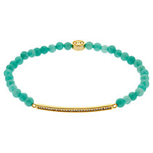 Buy Melissa Odabash Gold Plated Amazonite Crystal Bracelet, Gold Online at johnlewis.com
