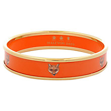 Buy Halcyon Days 18ct Gold Plated Fox Head Bangle, Medium, Online at johnlewis.com