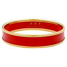 Buy Halcyon Days 18ct Gold Plated Plain Bangle, Medium, Deep Red/Gold Online at johnlewis.com