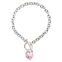 Buy Martick Murano Glass Heart Sterling Silver Chain Bracelet Online at johnlewis.com