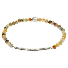 Buy Melissa Odabash Rhodium Plated Jasper Crystal Bracelet, Silver/Multi Online at johnlewis.com