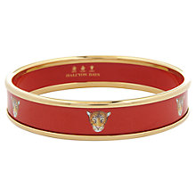 Buy Halcyon Days 18ct Gold Plated Leopard Head Bangle, Medium, Red Online at johnlewis.com
