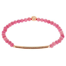 Buy Melissa Odabash Rose Gold Plated Rhodochrosite Swarovski Crystal Bracelet, Red/Rose Gold Online at johnlewis.com