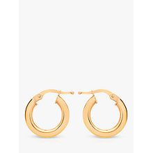 Buy IBB 9ct Gold Creole Earrings, Rose Gold Online at johnlewis.com