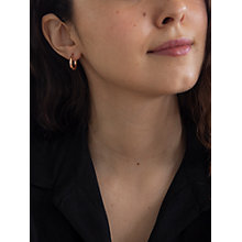 Buy IBB 9ct Rose Gold Creole Earrings, Rose Gold Online at johnlewis.com