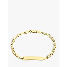 Buy IBB 9ct Gold Celtic ID Bracelet, Gold Online at johnlewis.com