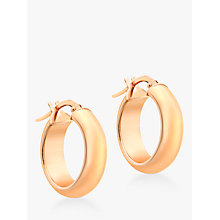 Buy IBB 9ct Gold Polished Creole Earrings, Rose Gold Online at johnlewis.com