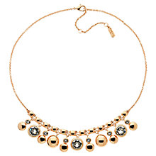 Buy Finesse Rose Gold Plated Swarvoski Crystal Drop Necklace, Rose Gold Online at johnlewis.com