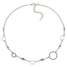 Buy Finesse Rhodium Plated Swarovski Crystal Circle Necklace, Silver Online at johnlewis.com