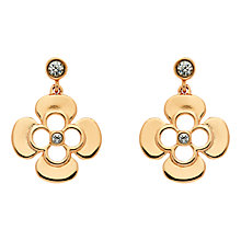 Buy Finesse Rose Gold Plated Swarovski Crystal Flower Earrings, Rose Gold Online at johnlewis.com