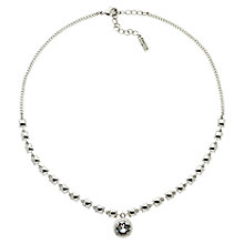 Buy Finesse Rhodium Plated Swarovski Crystal Drop Necklace, Silver Online at johnlewis.com