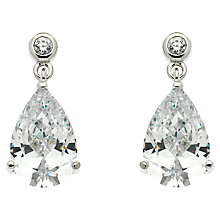 Buy Finesse Cubic Zirconia Teardrop Earrings Online at johnlewis.com