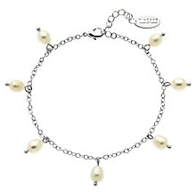 Buy Finesse Freshwater Pearl Drop Chain Bracelet Online at johnlewis.com
