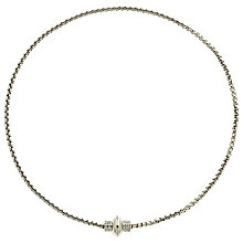 Buy Finesse Crystal Magnetic Necklace, Silver Online at johnlewis.com