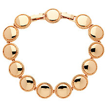 Buy Finesse Rose Gold Plated Circle Bracelet, Rose Gold Online at johnlewis.com