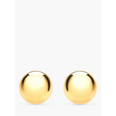 IBB 18ct Gold Ball Stud Earrings, 5mm