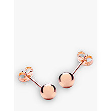 Buy IBB 9ct Gold Ball Stud Earrings, 5mm, Rose Gold Online at johnlewis.com