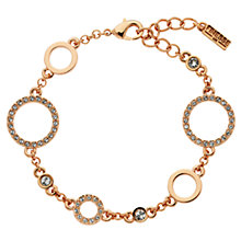 Buy Finesse Swarovski Crystal Bracelet, Rose Gold Online at johnlewis.com
