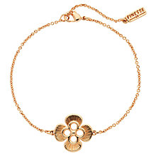 Buy Finesse Rose Gold Plated Flower Bracelet, Rose Gold Online at johnlewis.com