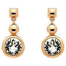 Buy Finesse Rose Gold Plated Swarovski Crystal Circle Drop Earrings, Rose Gold Online at johnlewis.com