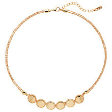Buy Finesse Circle & Chain Gold Plated Necklace, Rose Gold Online at johnlewis.com