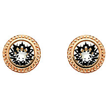 Buy Finesse Rose Gold Swarovski Crystal Circle Earrings, Rose Gold Online at johnlewis.com