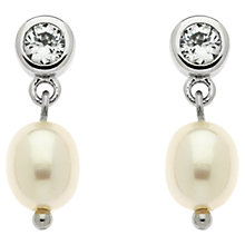 Buy Finesse Freshwater Pearl Cubic Zirconia Drop Earrings Online at johnlewis.com