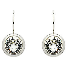 Buy Finesse Rhodium Plated Swarovski Crystal Drop Earrings, Silver Online at johnlewis.com