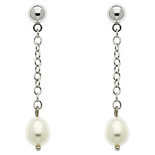 Buy Finesse Freshwater Pearl Chain Drop Earrings Online at johnlewis.com