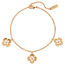 Buy Finesse Swarovski Crystal Flower Bracelet, Rose Gold Online at johnlewis.com