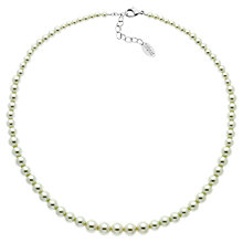 Buy Finesse Rhodium Plated Graduated Faux Pearl Necklace, White Online at johnlewis.com