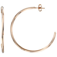 Buy Jessie Harris Large Hoop Earrings, Rose Gold Online at johnlewis.com