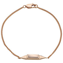 Buy Jessie Harris Chain Bracelet, Rose Gold Online at johnlewis.com