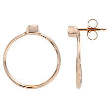 Buy Jessie Harris Small Knocker Hoop Earrings, Rose Gold Online at johnlewis.com