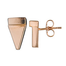 Buy Jessie Harris Stud Earrings, Rose Gold Online at johnlewis.com
