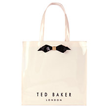 Buy Ted Baker Tedcon Bow Icon Shopper Bag, Cream Online at johnlewis.com