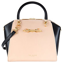 Buy Ted Baker Lailey Slim Bow Tote, Taupe Online at johnlewis.com