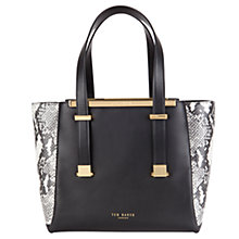 Buy Ted Baker Nalini Exotic Leather Shopper Bag, Black Online at johnlewis.com