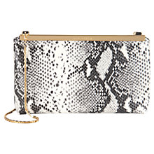 Buy Ted Baker Reni Exotic Clutch Bag, Snake Print/Black Online at johnlewis.com