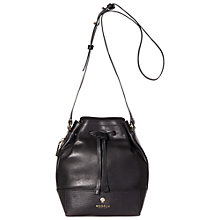 Buy Modalu Sandy Small Leather Duffel Bag, Black Online at johnlewis.com